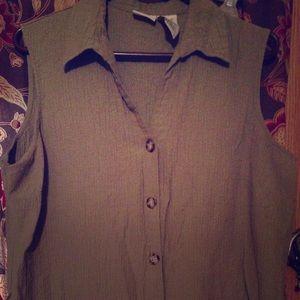 Tops - Green sleeveless blouse